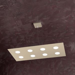 Picture of TOP LIGHT AREA 8 LED PENDANT LIGHT SAND COLOUR MODERN DESIGN