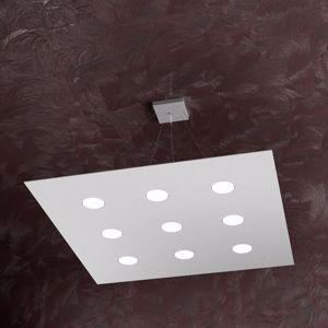 Picture of LAMPADARI MODERNI A LED A NOVE LUCI GRIGIO PER SALOTTO TOPLIGHT AREA
