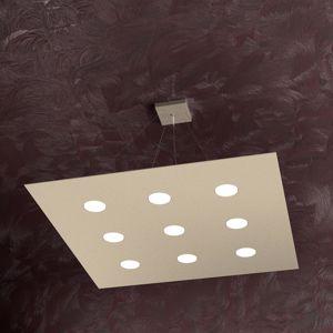 Picture of TOPLIGHT AREA LAMPADARIO QUADRATO LED 9 LUCI DESIGN SABBIA PER SALONE