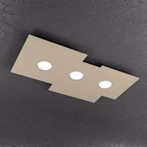 Picture of PLAFONIERA LED TRE LUCI DESIGN MODERNA TORTORA PER INTERNI TOPLIGHT PLATE