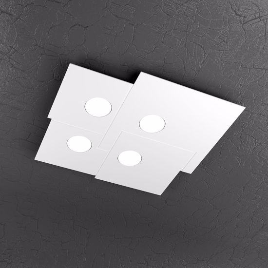 Picture of TOP LIGHT PLATE CEILING LAMP LED WHITE 4 LIGHTS