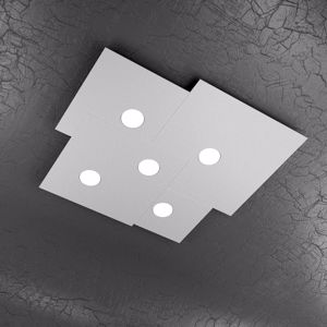 Picture of PLAFONIERA LED GX53 MODERNA GRIGIO PER UFFICIO TOPLIGHT PLATE