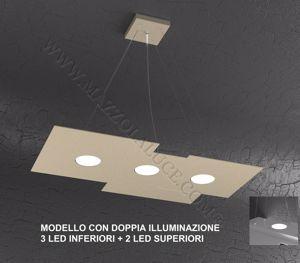 Picture of LAMPADARIO CUCINA MODERNA LED GX53 SABBIA DOPPIA ILLUMINAZIONE TOP LIGHT PLATE