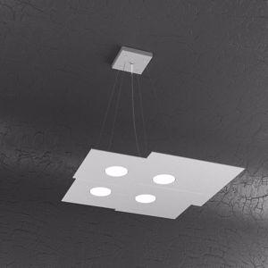 Picture of LAMPADARIO MODERNO LED METALLO GRIGIO DESIGN PER UFFICIO TOPLIGHT PLATE