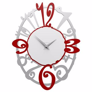 Picture of CALLEA DESIGN MICHELLE OVAL WALL CLOCK RUBY MODERN DESIGN