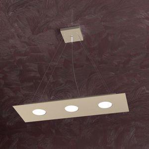 Picture of LAMPADARIO MODERNO LED COLORE SABBIA RETTANGOLARE TOP LIGHT AREA
