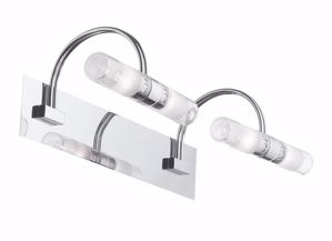 Picture of IDEAL LUX DOUBLE WALL LAMP AP4 CHROME