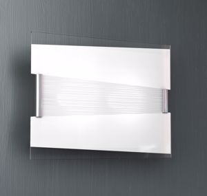 Picture of TOP LIGHT MAD CEILING LIGHT Ø40 WHITE GLASS SILKSCREENED AND CROMED DETAILS