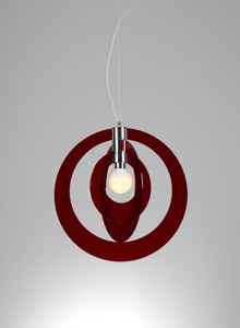 Picture of PENDANT LIGHT GALILEA SMALL CM54 RED EMPORIUM
