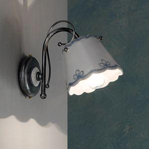 Picture of FERROLUCE RAVENNA WALL LAMP MATE CERAMIC HANDMADE AZURE DECOR