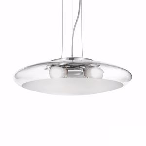 Picture of IDEAL LUX SMARTIES CLEAR SUSPENSION SP3 D50 CHROME AND GLASS