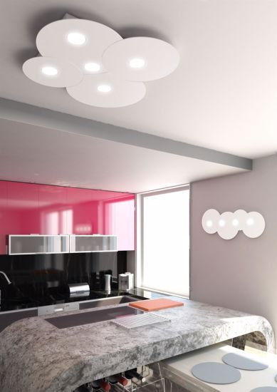 Picture of LED CEILING LIGHT GREY CLOUD 6 LIGHTS TOPLIGHT CLOUD