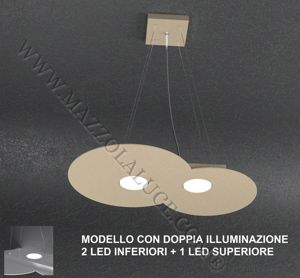 Picture of TOPLIGHT SAND CLOUD LED PENDANT LIGHT 2+1 DOUBLE LIGHTING EMISSION