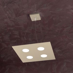 Picture of TOPLIGHT AREA SABBIA LAMPADARIO QUADRATO PER CUCINA MODERNA 4 LUCI LED