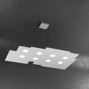 Picture of TOPLIGHT PLATE GRIGIO LAMPADARIO LED MODERNO 8 LUCI ALTA LUMINOSITA
