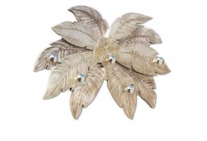 Picture of PINTDECOR PALMIRA WALL COAT HANGER PALM LEAVES-SHAPED HAND-DECORATED WITH SILVER FOIL DETAILS