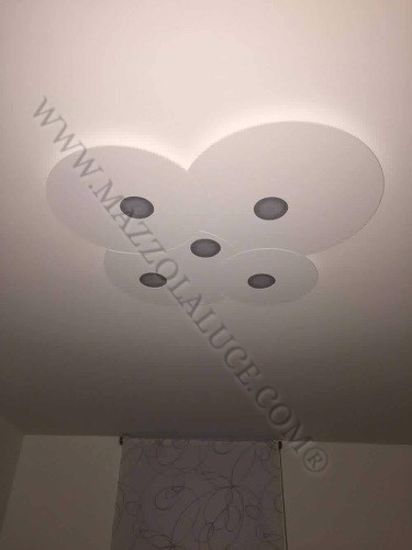 Picture of TOPLIGHT CLOUD GREY LED CEILING 5 LIGHTS ORIGINAL DESIGN