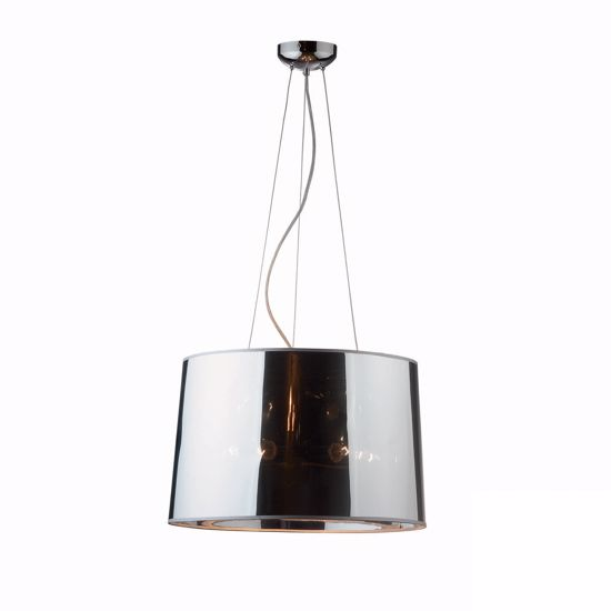 Picture of IDEALLUX LONDON SP5 SUSPENSION CONTEMPORARY MIRRORED SHADE