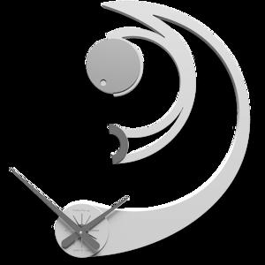 Picture of CALLEA DESIGN AGATHA OROLOGIO DA PARETE LEGNO BIANCO DESIGN MODERNO