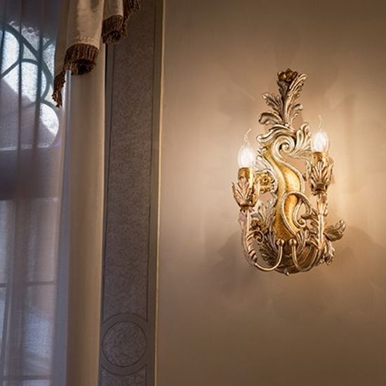 Picture of IDEALLUX CARMEN AP2 WALL CLASSIC GOLD