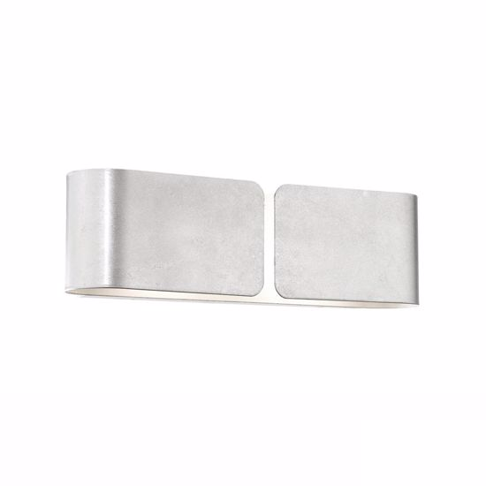 Picture of IDEAL LUX CLIP AP2 MINI WALL LAMP IN SILVER FINISHED METAL