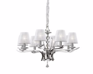 Picture of IDEAL LUX PEGASO CHROME PENDANT LAMP SP8 8ARMS