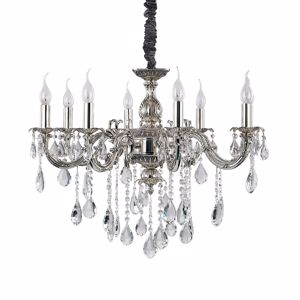 Picture of IDEALLUX IMPERO SP8 CHANDELIER SILVER