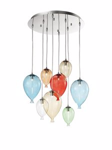 Picture of IDEALLUX CLOWN SP8 MULTICOLOR SUSPENSION BALLOON