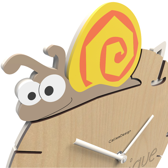 Picture of CALLEA DESIGN SNAIL WALL CLOCK MODERN DESIGN CUSTOMISABLE FOR KIDS