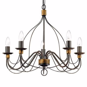 Picture of IDEAL LUX CORTE SP5 HANDCRAFTED PENDANT LAMP RUST