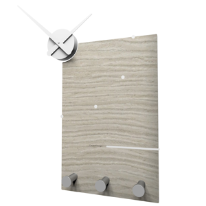 Picture of CALLEA DESIGN OSCAR MODERN WALL CLOCK AND COAT RACK IN BREEZE OAK COLOUR
