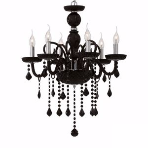 Picture of IDEAL LUX GIUDECCA CRYSTAL PENDANT LAMP SP6 BLACK