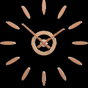 Picture of CALLEA DESIGN TIZIANO OROLOGIO DA PARETE ABBRONZATO 122CM COMPONIBILE ADESIVO