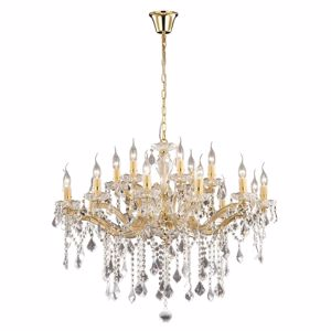 Picture of IDEAL LUX FLORIAN CRYSTAL PENDANT LAMP SP18 18 ARMS GOLD