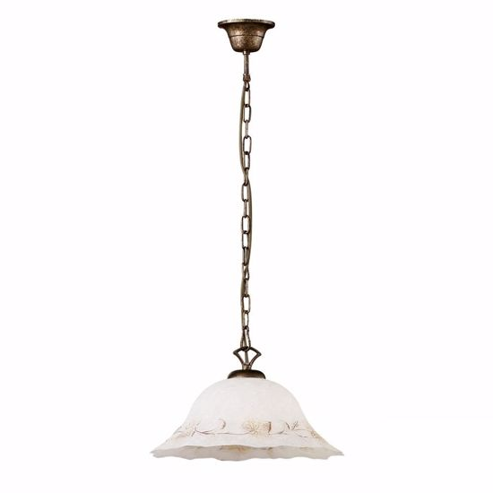 Picture of IDEAL LUX FOGLIA SP1 D40 HAND DECORATED PENDANT LAMP