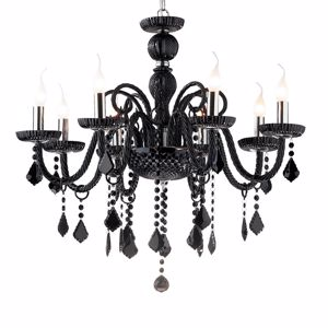 Picture of IDEAL LUX GIUDECCA CRYSTAL PENDANT LAMP SP8 BLACK