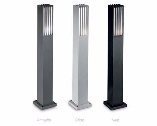 Picture of IDEAL LUX MARTE ANTHRACITE LAMPPOST LED COMPATIBLE FOR OUTDOOR LIGHTING