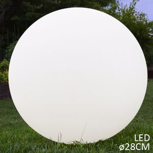 Picture of LINEA LIGHT OH! GARDEN LED OUTDOOR SPHERE WHITE Ø28