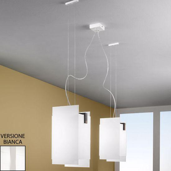 Picture of LINEA LIGHT TRIAD MODERN PENDANT LAMP 2LIGHTS WHITE