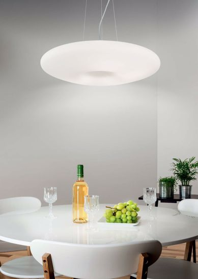 Picture of IDEAL LUX GLORY GLASS PENDANT LAMP SP5 D60