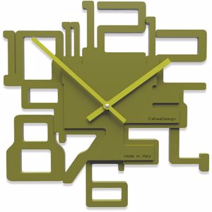 Picture of CALLEA DESIGN MODERN WALL CLOCK KRON OLIVE GREEN