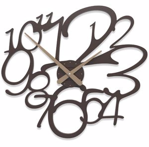 Picture of CALLEA DESIGN FRIVOLOUS MODERN WALL CLOCK CHOCOLATE