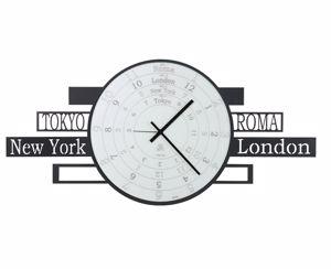Picture of ARTI E MESTIERI JET LAG WALL CLOCK TIMEZONES BLACK CLOCK