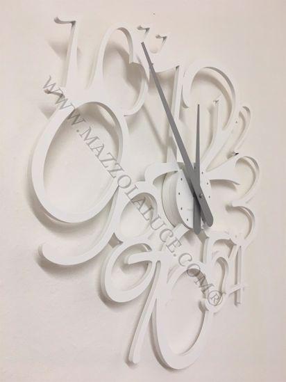 Picture of CALLEA DESIGN FRIVOLOUS MODERN WALL CLOCK WHITE