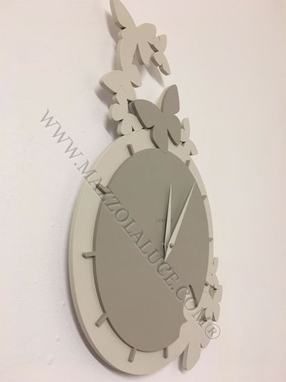 Picture of CALLEA DESIGN DANCING BUTTERFLY WALL CLOCK DOVE GREY