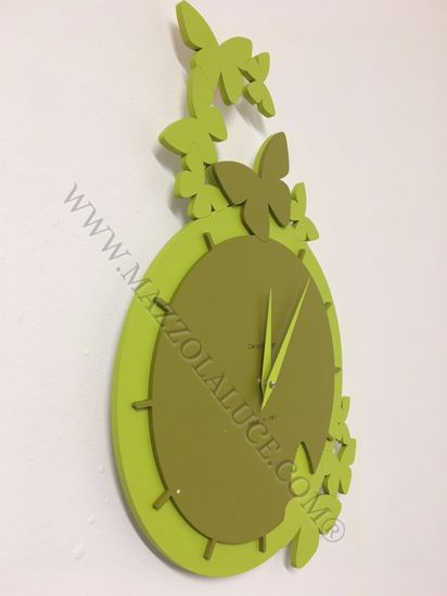 Picture of CALLEA DESIGN DANCING BUTTERFLY WALL CLOCK OLIVE GREEN