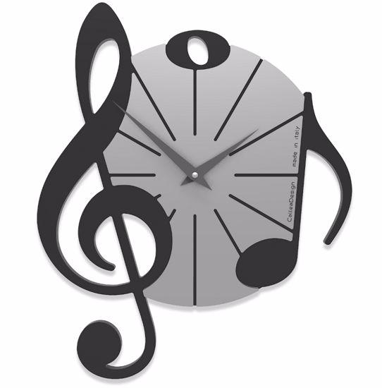 Picture of CALLEA DESIGN WALL CLOCK VIVALDI MUSICAL NOTE BLACK