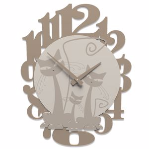 Picture of CALLEA DESIGN 3 CATS MODERN WALL CLOCK DOVE GREY