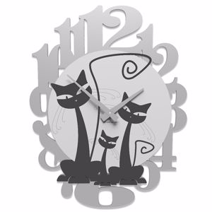Picture of CALLEA DESIGN 3 CATS MODERN WALL CLOCK BLACK