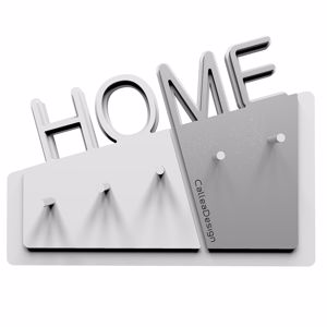 Picture of  CALLEA DESIGN HOME MODERN WALL KEY HOLDER IN ALUMINIUM COLOUR